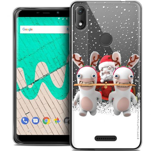 """Coque Gel Wiko View MAX (6"""") Extra Fine Lapins Crétins™ - Lapin Traineau"""