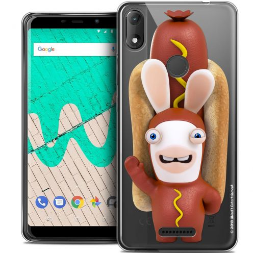"""Coque Gel Wiko View MAX (6"""") Extra Fine Lapins Crétins™ - Hot Dog Crétin"""