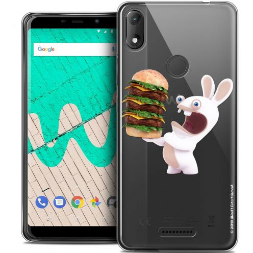 """Coque Gel Wiko View MAX (6"""") Extra Fine Lapins Crétins™ - Burger Crétin"""