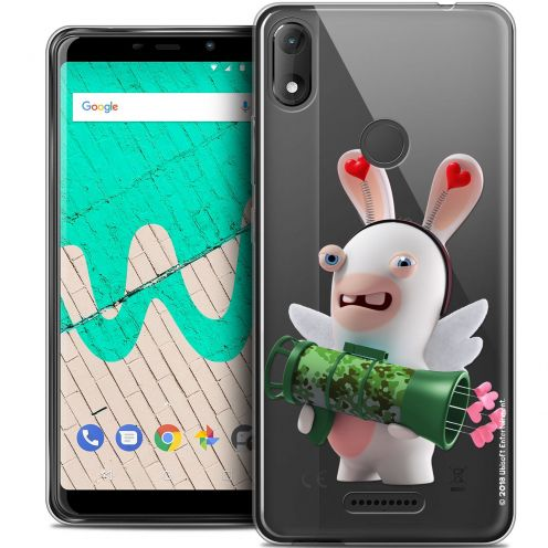 """Coque Gel Wiko View MAX (6"""") Extra Fine Lapins Crétins™ - Cupidon Soldat"""