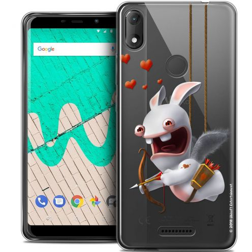 """Coque Gel Wiko View MAX (6"""") Extra Fine Lapins Crétins™ - Flying Cupidon"""