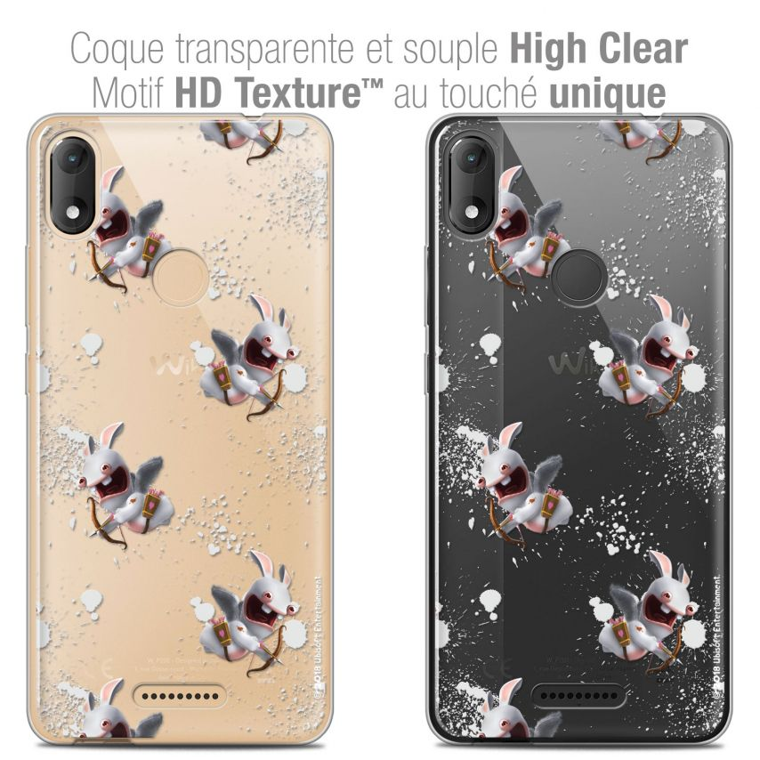 """Coque Gel Wiko View MAX (6"""") Extra Fine Lapins Crétins™ - Cupidon Pattern"""