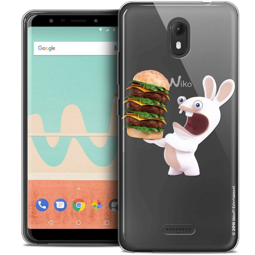 "Coque Gel Wiko View GO (5.7"") Extra Fine Lapins Crétins™ - Burger Crétin"