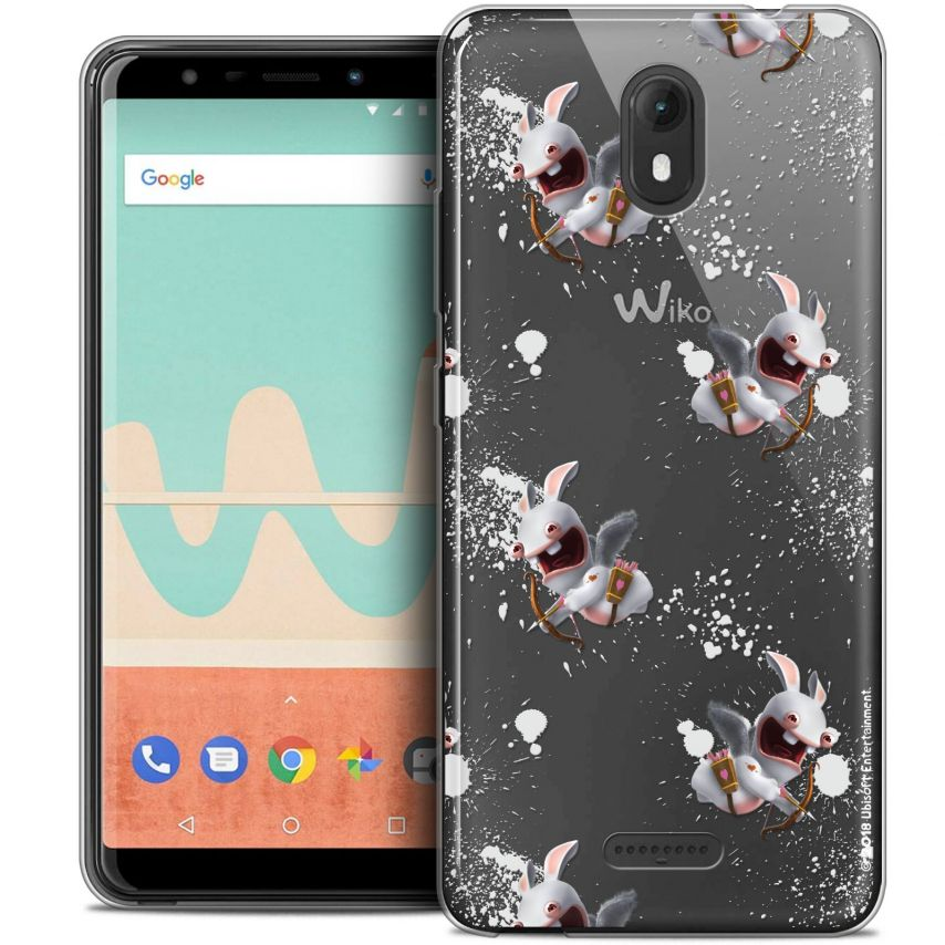 """Coque Gel Wiko View GO (5.7"""") Extra Fine Lapins Crétins™ - Cupidon Pattern"""