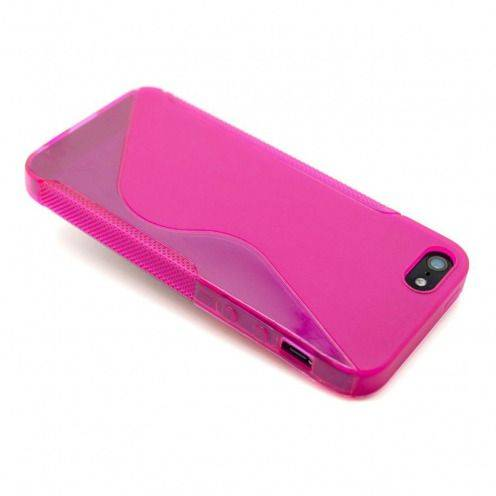 Coque iPhone 5S / 5 Tpu Basics SLine Rose Fushia