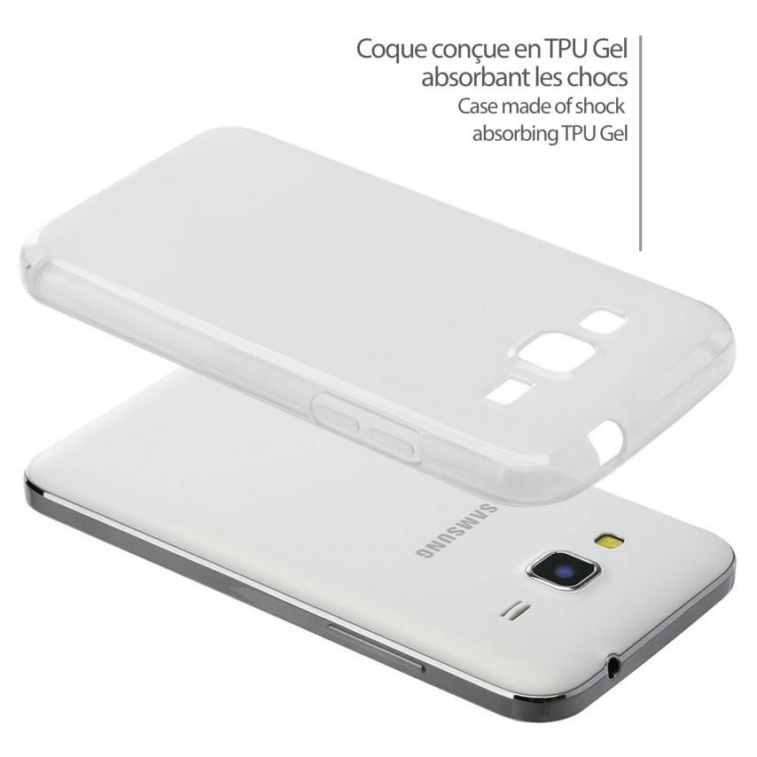 Photo réelle de Coque Galaxy Core Prime Frozen Ice Extra Fine Blanche