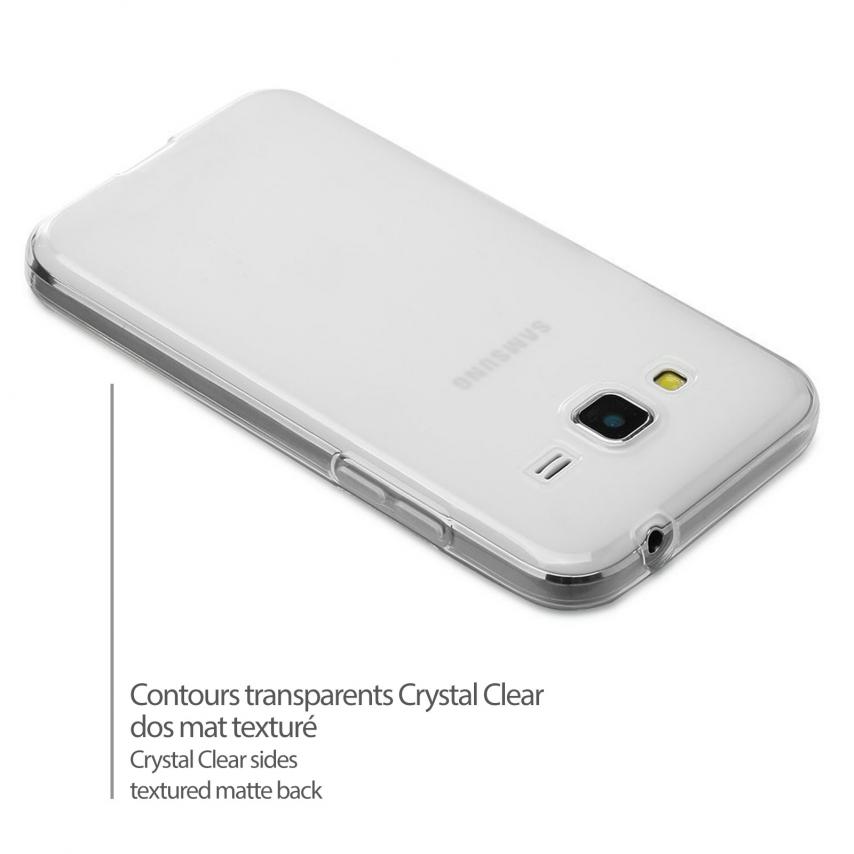 Vue portée de Coque Galaxy Core Prime Frozen Ice Extra Fine Blanche