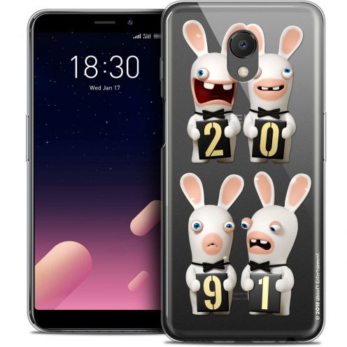 """Coque Gel Meizu M6s (5.7"""") Extra Fine Lapins Crétins™ - New Year"""