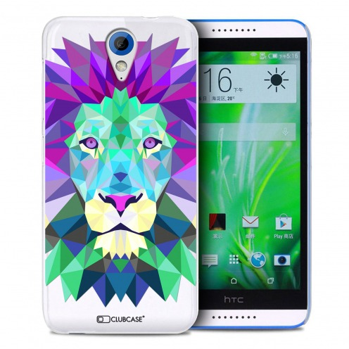 Zoom sur Coque Crystal Desire 620 Extra Fine Polygon Animals - Lion