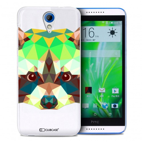 Zoom sur Coque Crystal Desire 620 Extra Fine Polygon Animals - Raton Laveur