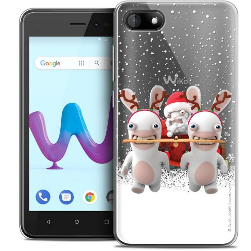"""Coque Gel Wiko Sunny 3 (5"""") Extra Fine Lapins Crétins™ - Lapin Traineau"""
