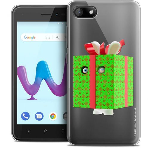 """Coque Gel Wiko Sunny 3 (5"""") Extra Fine Lapins Crétins™ - Lapin Surprise Vert"""
