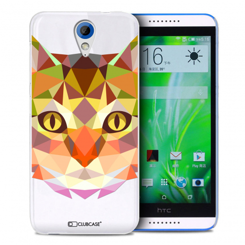 Zoom sur Coque Crystal Desire 620 Extra Fine Polygon Animals - Chat