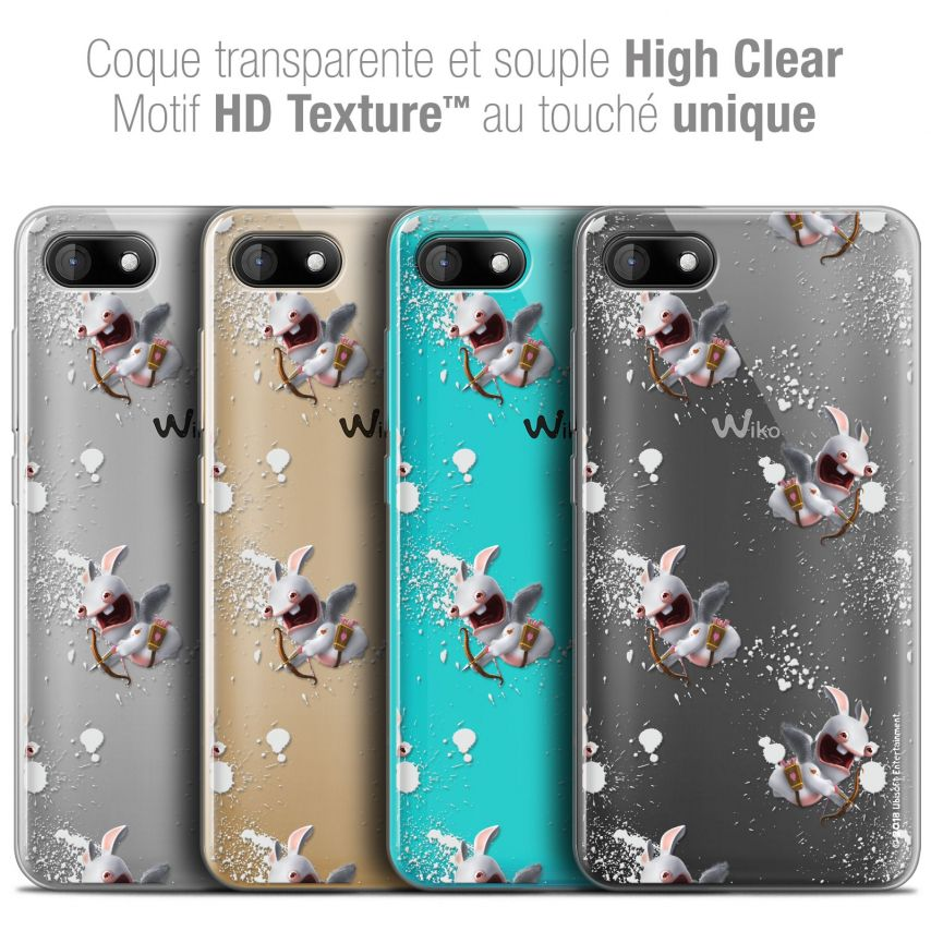 "Coque Gel Wiko Sunny 3 (5"") Extra Fine Lapins Crétins™ - Cupidon Pattern"