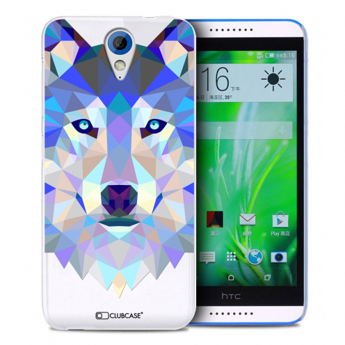 Zoom sur Coque Crystal Desire 620 Extra Fine Polygon Animals - Loup