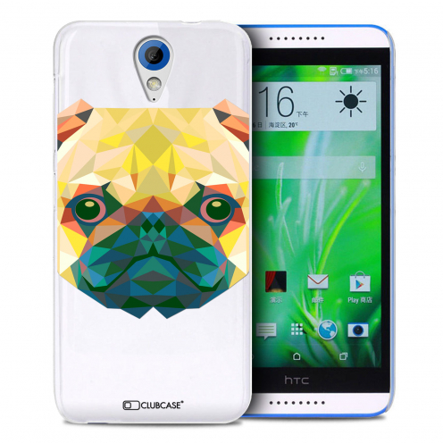Zoom sur Coque Crystal Desire 620 Extra Fine Polygon Animals - Chien