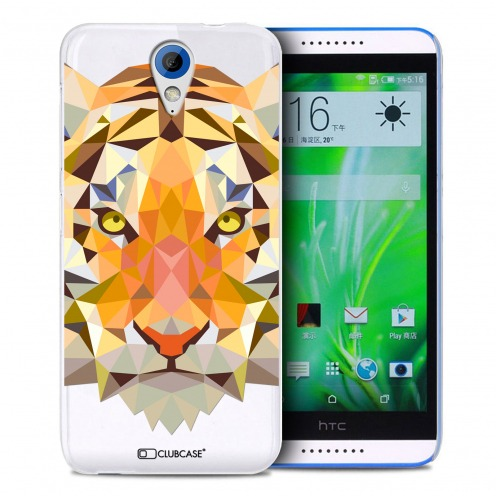 Zoom sur Coque Crystal Desire 620 Extra Fine Polygon Animals - Tigre