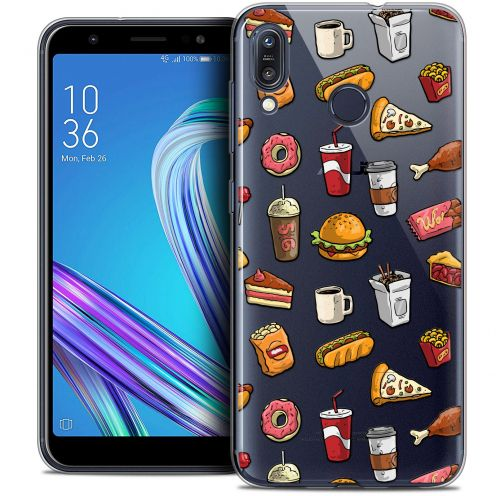 "Coque Crystal Gel Asus Zenfone Max (M1) ZB555KL (5.5"") Extra Fine Foodie - Fast Food"