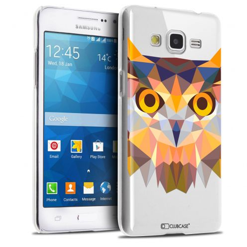 Zoom sur Coque Crystal Galaxy Grand Prime Extra Fine Polygon Animals - Hibou
