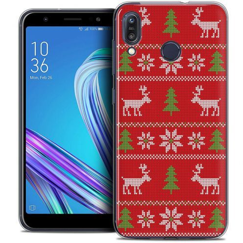 """Coque Crystal Gel Asus Zenfone Max (M1) ZB555KL (5.5"""") Extra Fine Noël 2017 - Couture Rouge"""