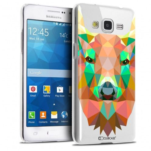 Zoom sur Coque Crystal Galaxy Grand Prime Extra Fine Polygon Animals - Cerf