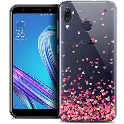 """Coque Crystal Gel Asus Zenfone Max (M1) ZB555KL (5.5"""") Extra Fine Sweetie - Heart Flakes"""