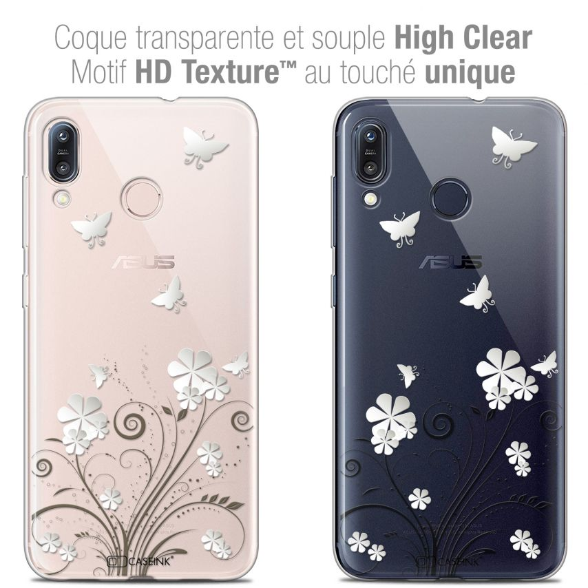 """Coque Crystal Gel Asus Zenfone Max (M1) ZB555KL (5.5"""") Extra Fine Summer - Papillons"""
