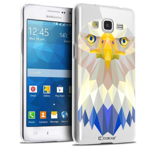 Zoom sur Coque Crystal Galaxy Grand Prime Extra Fine Polygon Animals - Aigle