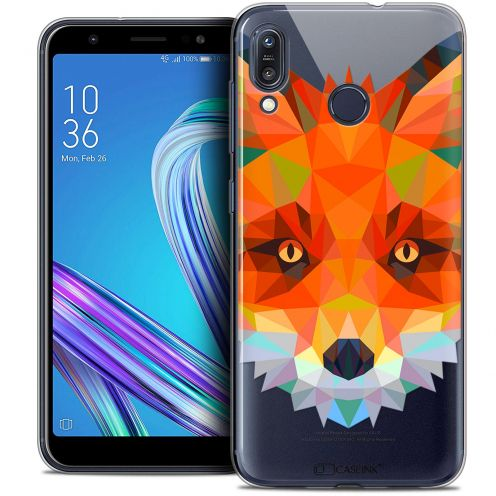 "Coque Crystal Gel Asus Zenfone Max (M1) ZB555KL (5.5"") Extra Fine Polygon Animals - Renard"