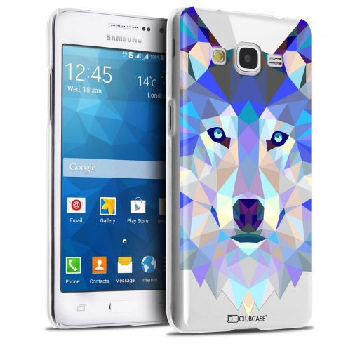 Zoom sur Coque Crystal Galaxy Grand Prime Extra Fine Polygon Animals - Loup