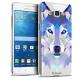 Zoom sur Coque Crystal Galaxy Grand Prime Extra Fine Polygon Animals - Loup