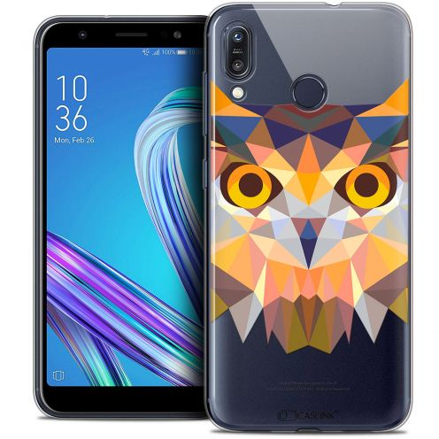 "Coque Crystal Gel Asus Zenfone Max (M1) ZB555KL (5.5"") Extra Fine Polygon Animals - Hibou"