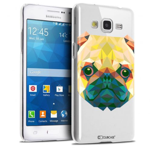 Coque Crystal Galaxy Grand Prime Extra Fine Polygon Animals - Chien