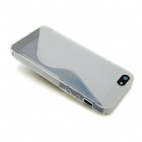 Vue complémentaire de Coque iPhone 5 Tpu Basics SLine Transparente