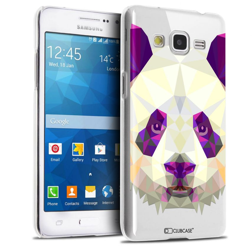 Zoom sur Coque Crystal Galaxy Grand Prime Extra Fine Polygon Animals - Panda