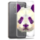 Visuel unique de Coque Crystal Galaxy Grand Prime Extra Fine Polygon Animals - Panda