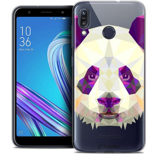 "Coque Crystal Gel Asus Zenfone Max (M1) ZB555KL (5.5"") Extra Fine Polygon Animals - Panda"
