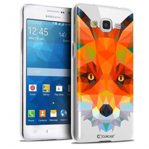 Coque Crystal Galaxy Grand Prime Extra Fine Polygon Animals - Renard
