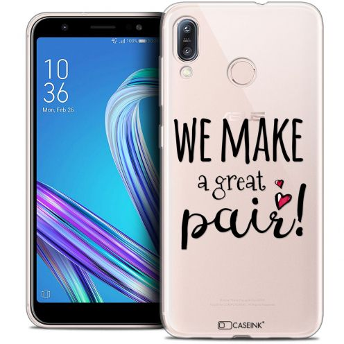 "Coque Crystal Gel Asus Zenfone Max (M1) ZB555KL (5.5"") Extra Fine Love - We Make Great Pair"