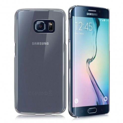 Vue complémentaire de Coque Samsung Galaxy S6 Edge Crystal Extra Fine Transparente