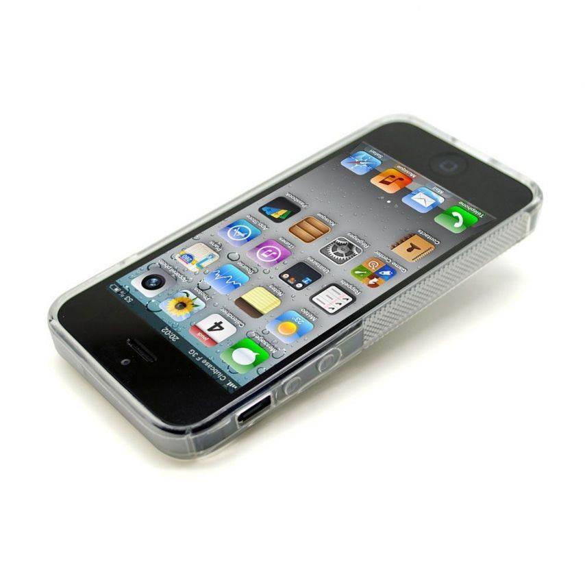 Vue portée de Coque iPhone 5 Tpu Basics SLine Transparente