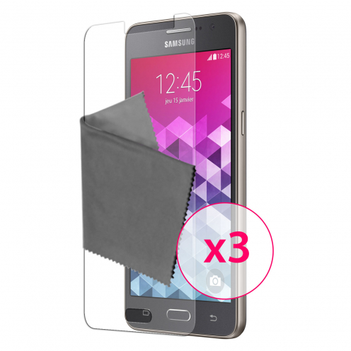Zoom sur Films de protection Samsung Galaxy Grand Prime Clubcase® 3H Ultra Clear HD Lot de 3