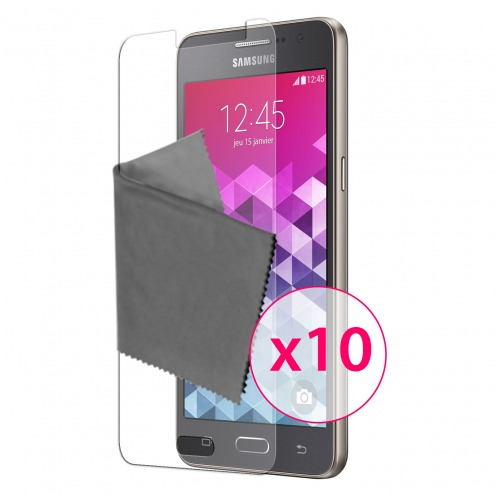 Zoom sur Films de protection Samsung Galaxy Grand Prime Clubcase® 3H Ultra Clear HD Lot de 10