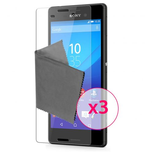 Zoom sur Films de protection Sony Xperia M4 Aqua Clubcase® 3H Ultra Clear HD Lot de 3