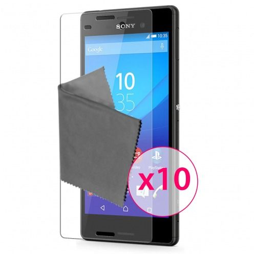 Films de protection Sony Xperia M4 Aqua Clubcase® 3H Ultra Clear HD Lot de 10