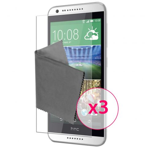 Zoom sur Films de protection HTC Desire 620 Clubcase® 3H Ultra Clear HD Lot de 3