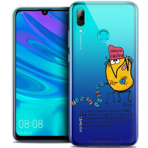 "Coque Gel Huawei P Smart 2019 (6.21"") Extra Fine Les Shadoks® - Einstein"