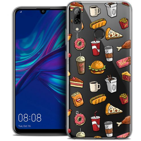 "Coque Crystal Gel Huawei P Smart 2019 (6.21"") Extra Fine Foodie - Fast Food"