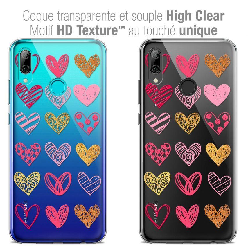 "Coque Crystal Gel Huawei P Smart 2019 (6.21"") Extra Fine Sweetie - Doodling Hearts"