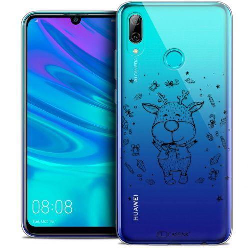 "Coque Crystal Gel Huawei P Smart 2019 (6.21"") Extra Fine Noël 2017 - Sketchy Cerf"